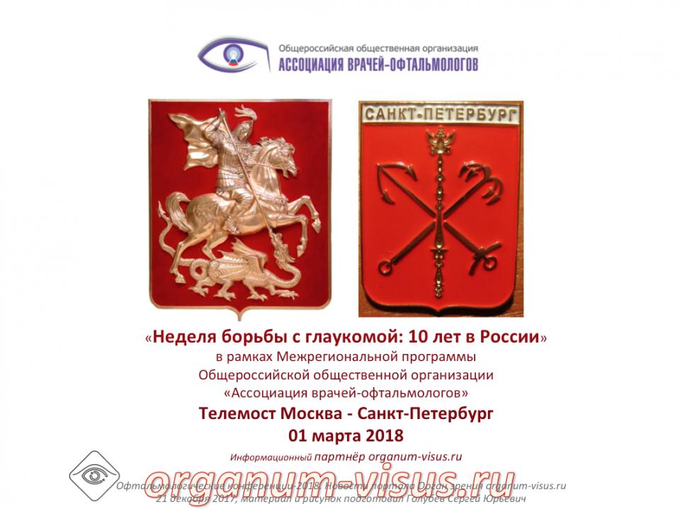 Новости глаукомы Телемост Москва Санкт-Петербург