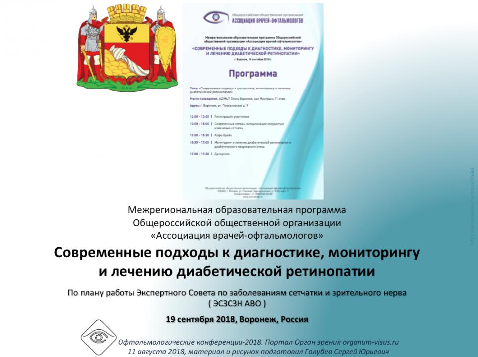 Диабетическая ретинопатия. Образовательный проект АВО Воронеж