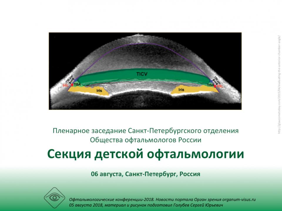 Детская офтальмология Заседание секции СПбОООР