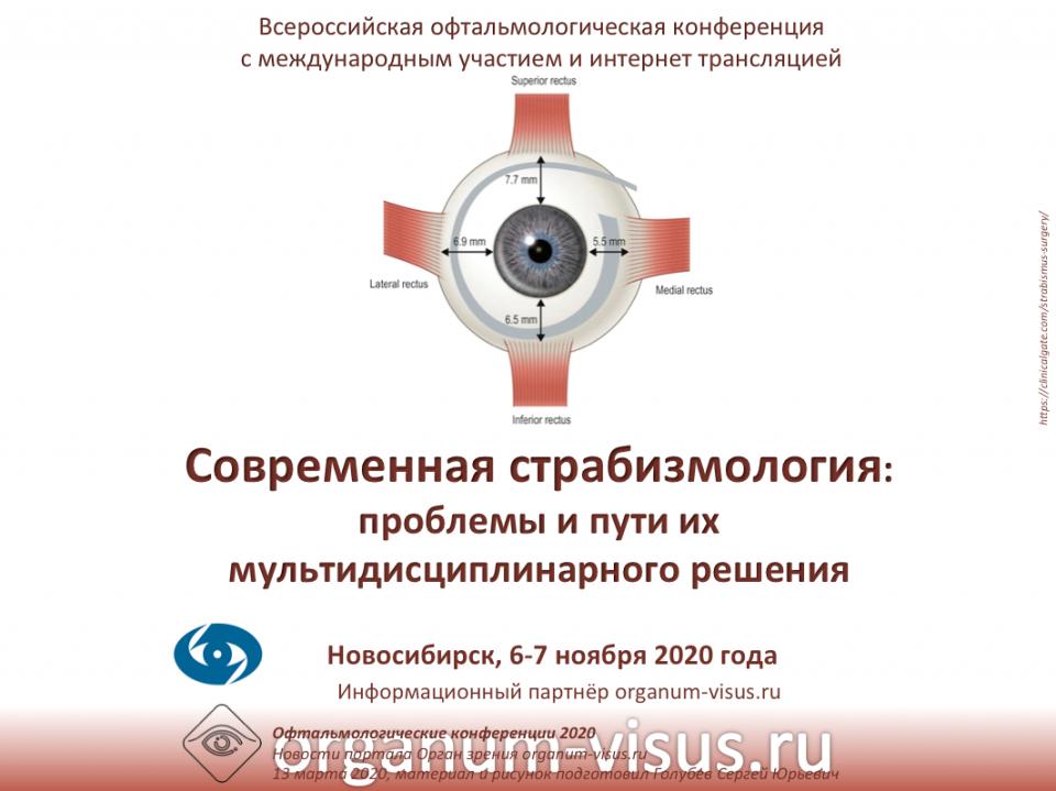 Современная страбизмология Конференция в Новосибирском МНТК