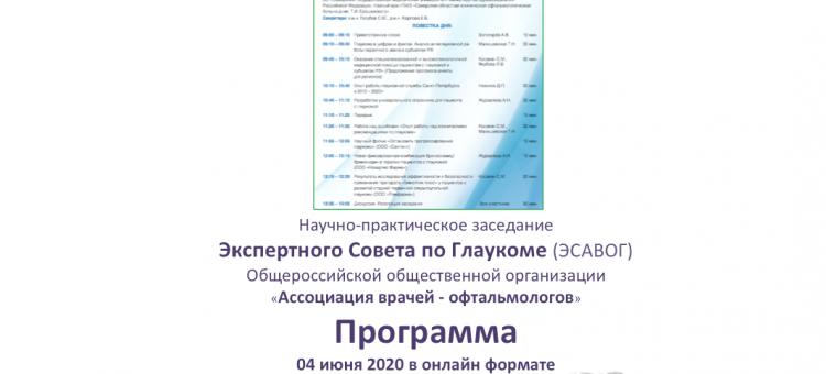Заседание Экспертного совета АВО Глаукома