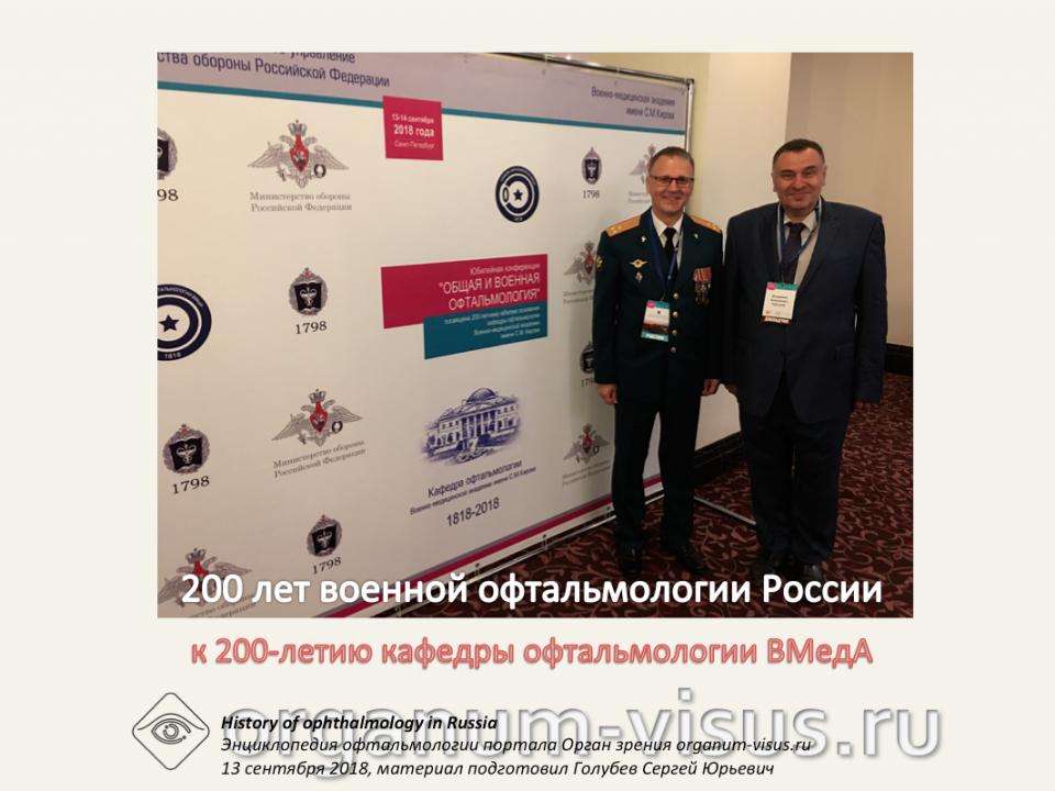 История военной офтальмологии России