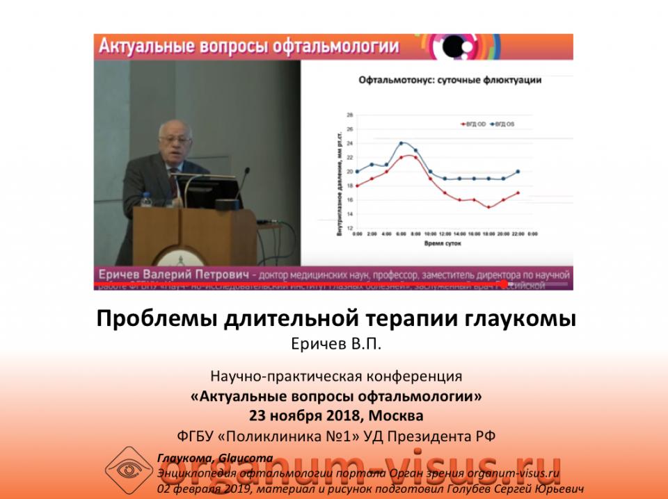 Глаукома Длительная терапия Еричев В.П.