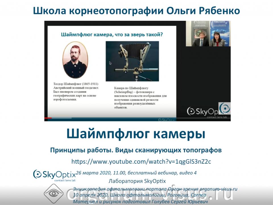 Корнеотопография Шаймпфлюг камеры Школа Ольги Рябенко Видео
