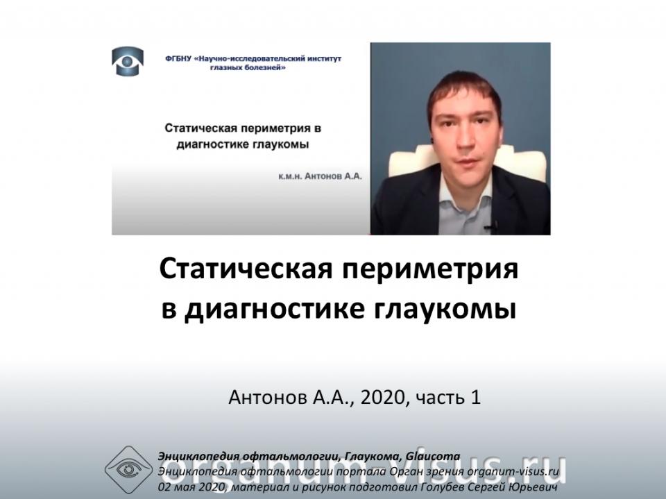 Статическая периметрия Глаукома Антонов А.А. видео 1