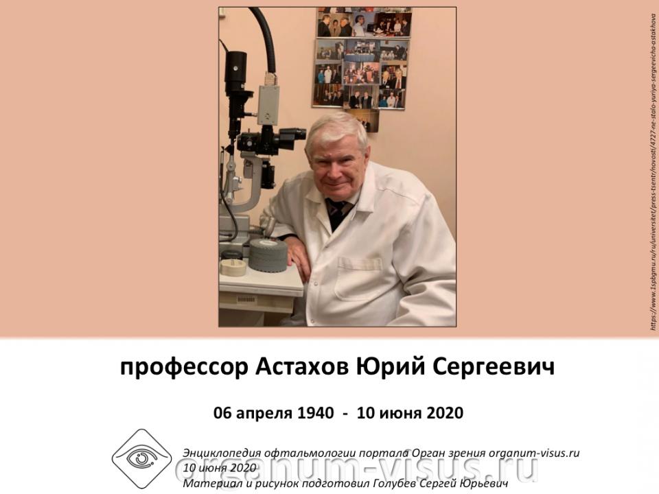 Астахов Юрий Сергеевич Некролог