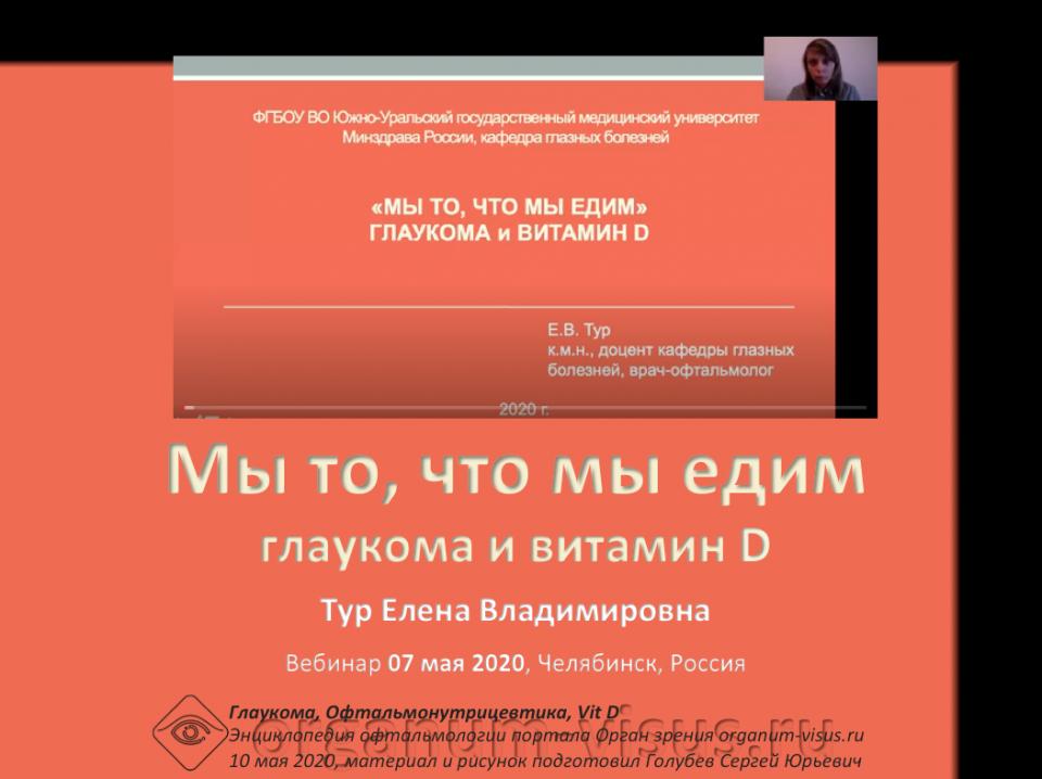 Глаукома и витамин D Офтальмонутрицевтика Вебинар