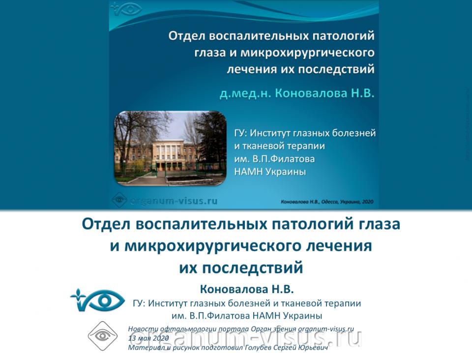 Институт Филатова Отдел воспалительных патологий глаза История