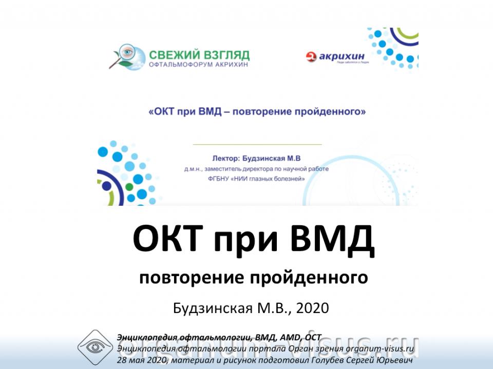 Офтальмофорум Акрихин ОКT при ВМД
