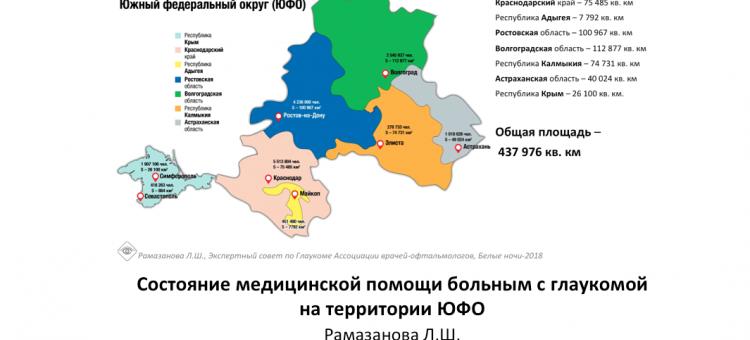 Глаукома Медицинская помощь в ЮФО, Рамазанова Л.Ш.