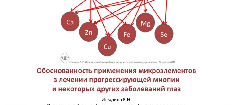 Офтальмонутрицевтика Миронутриенты Иомдина Е.Н.
