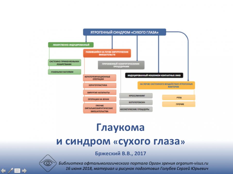 Глаукома и сухой глаз Бржеский В.В. 2017