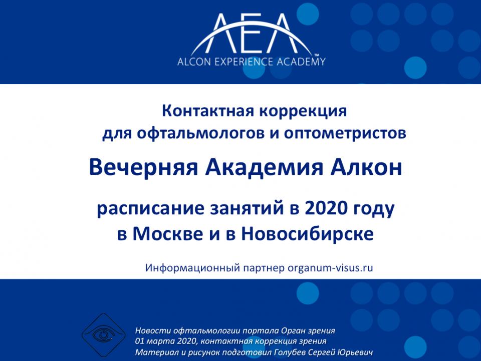Контактная коррекция Вечерняя Академия Алкон 2020