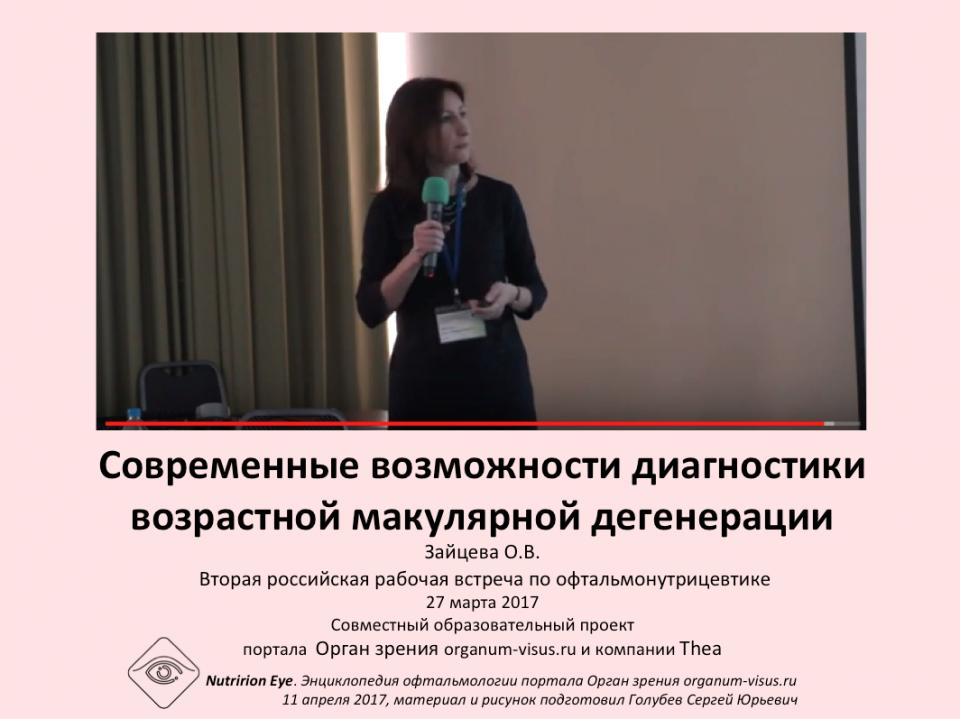 Нутрицевтики Диагностика ВМД Зайцева О.В.