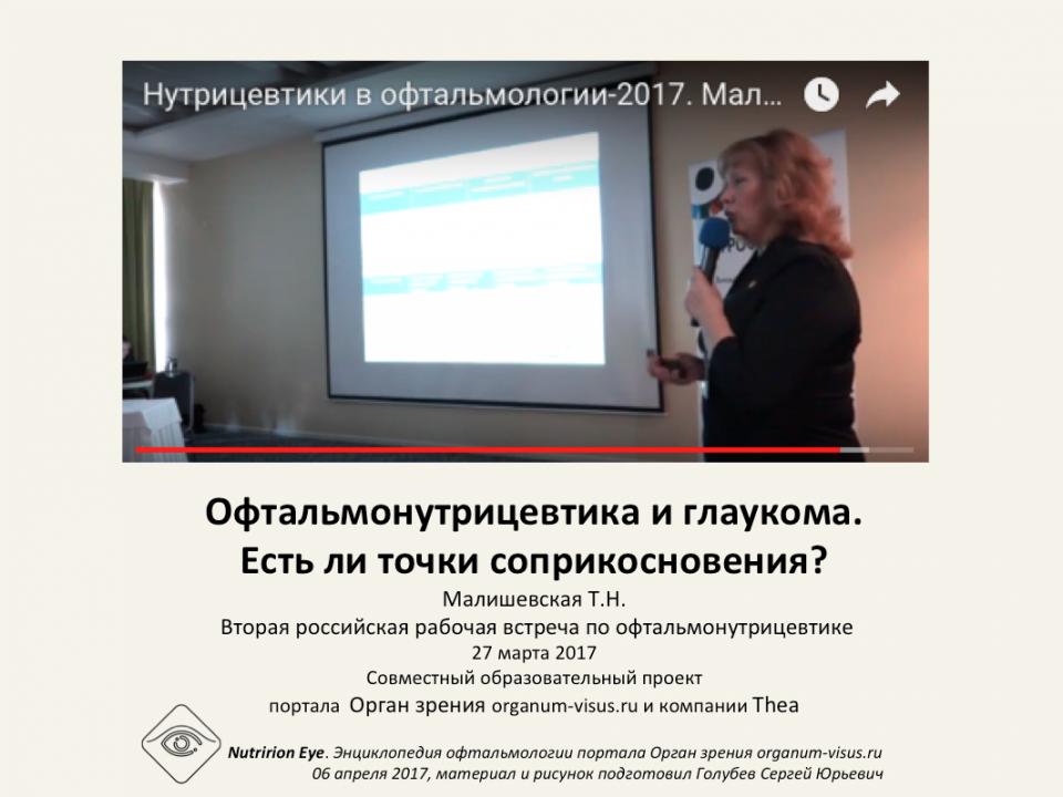 Нутрицевтики и глаукома Малишевская Т.Н.