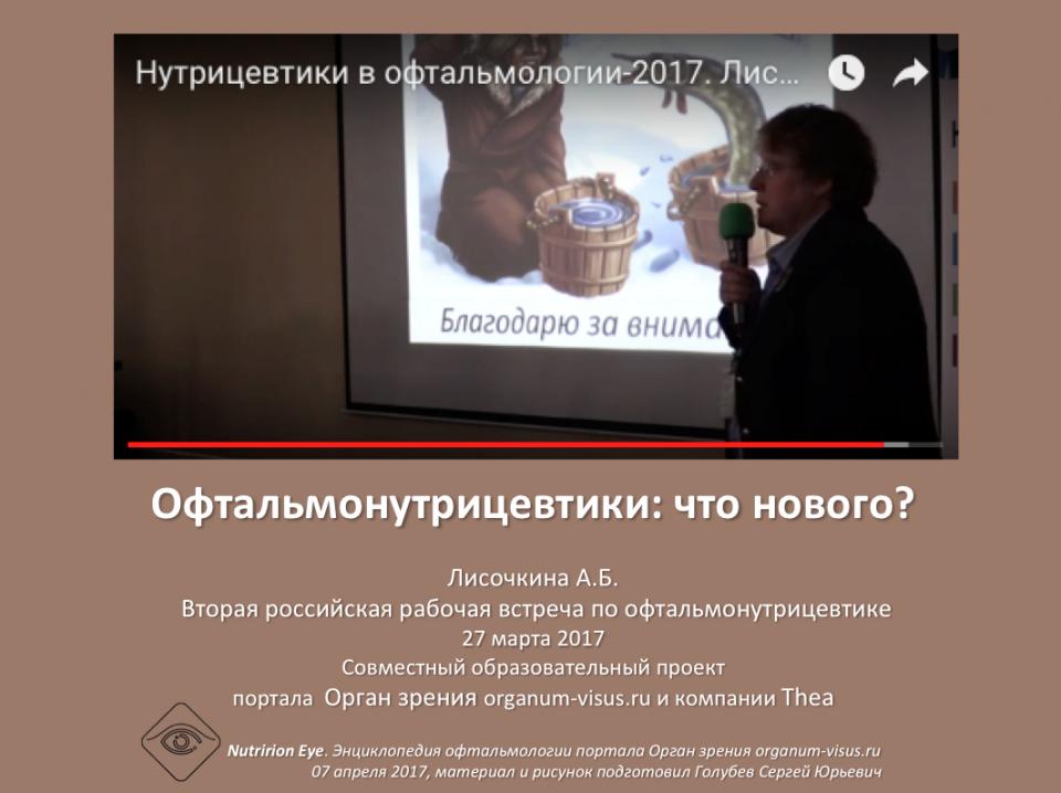 Нутрицевтики Офтальмонутрицевтики Лисочкина А.Б.