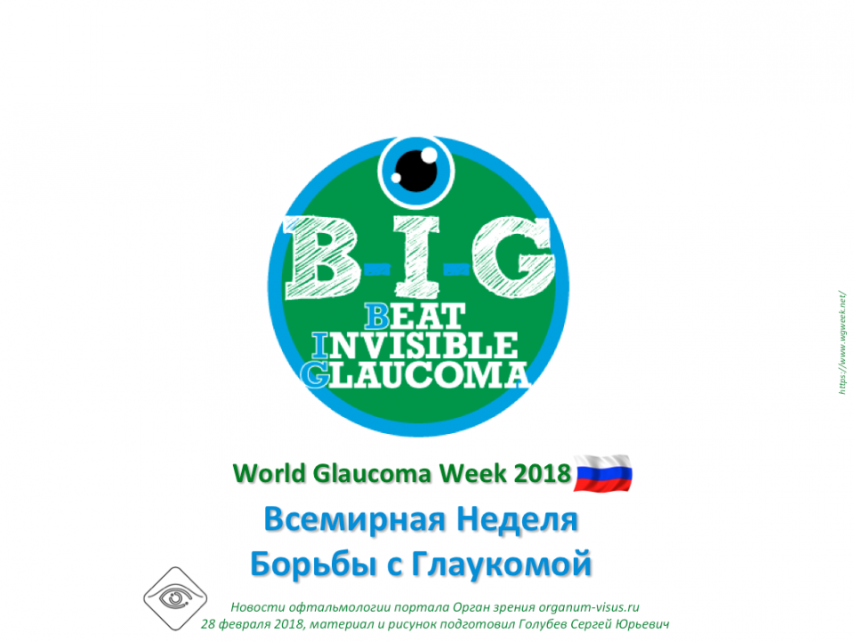 Новости глаукомы World Glaucoma Week 2018
