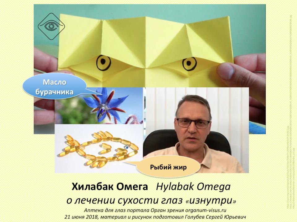 Хилабак Омега Лечение сухости глаз