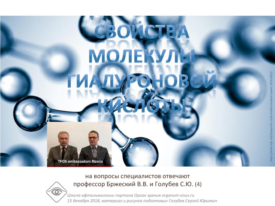 Сухой глаз О свойствах молекулы гиалуроновой кислоты Ответы на вопросы