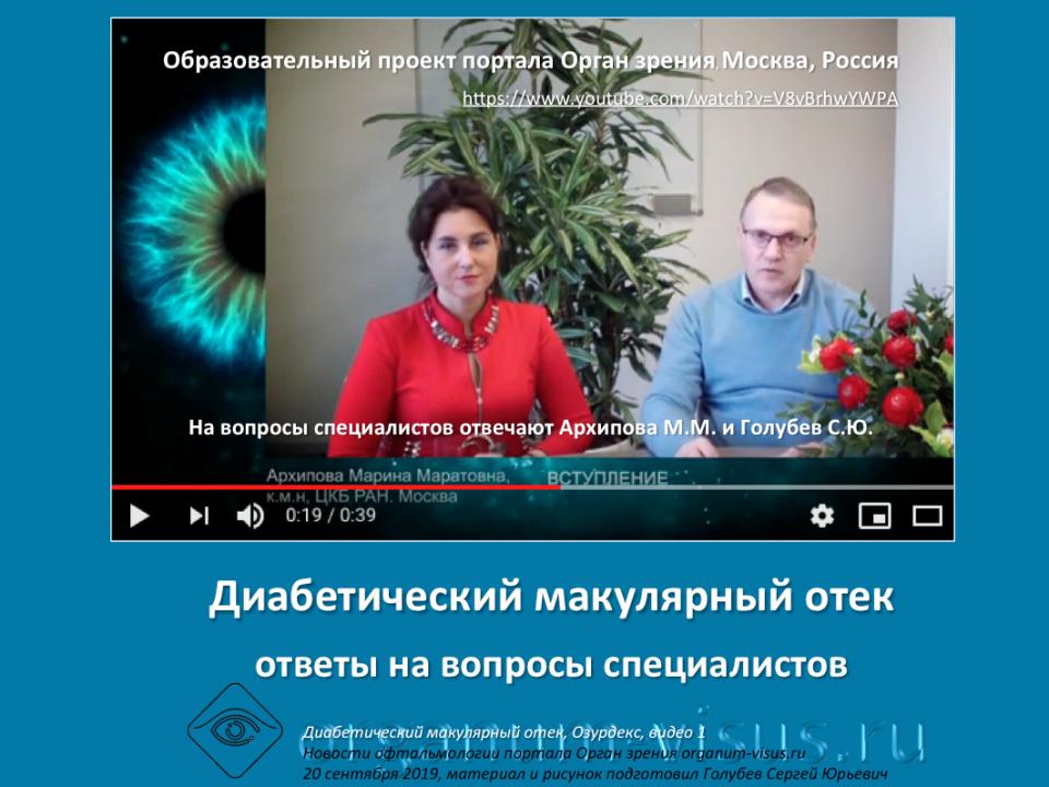 Диабет и Глаз Лечение ДМО Ответы на вопросы врачей Видео 1
