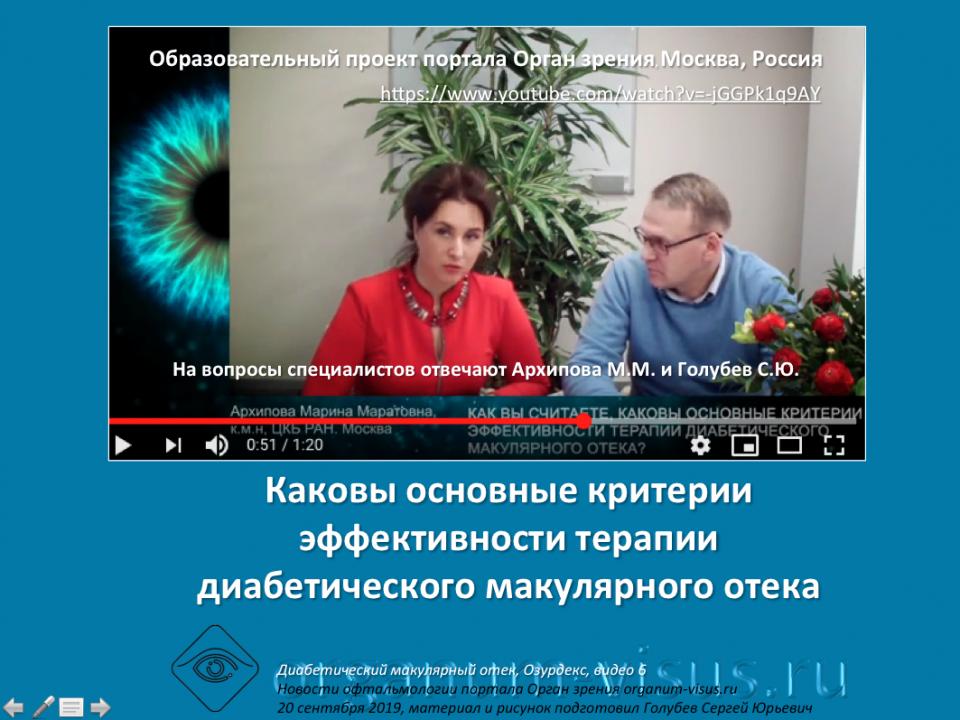 Диабет и Глаз Лечение ДМО Ответы на вопросы врачей Видео 6