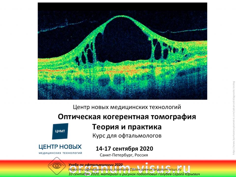 Курс для офтальмологов ОКТ Теория и практика ЦНМТ СПб