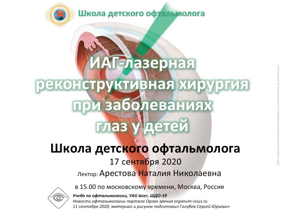 Школа детского офтальмолога ШДО 19 Москва Россия