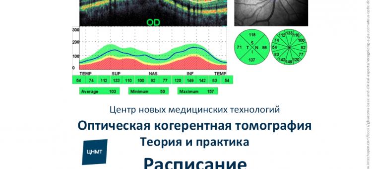 Курс для офтальмологов Теория и практика ОКТ ЦНМТ СПб Расписание