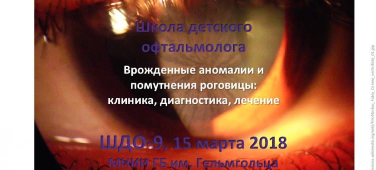 Школа детского офтальмолога ШДО-9 Москва Россия