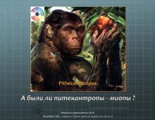 Миопия у питекантропов
