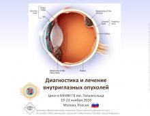 Учеба по офтальмологии Офтальмоонкология в МНИИ ГБ Гельмгольца