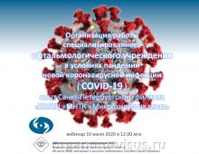 Работа офтальмологов в условиях COVID 19 МНТК Санкт-Петербург